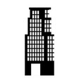 building silhouette isolated icon vector image