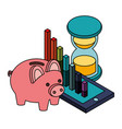 business financial money vector image vector image