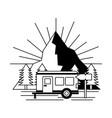 camping wanderlust image vector image