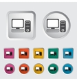 Computer icon 2 vector image vector image