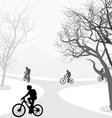 Cycling outdoor vector image vector image