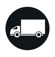 delivery truck model transport vehicle block and vector image vector image