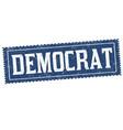 democrat sign or stamp vector image