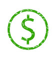 dollar symbol rubber stamp vector image