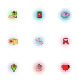 Donation icons set pop-art style vector image vector image
