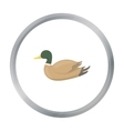 Duck icon in cartoon style isolated on white vector image vector image