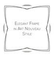Elegant frame in art nouveau vector image