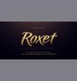 elegant gold metal 3d alphabet number italic font vector image vector image