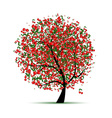 Energy cherry tree for your design vector image
