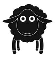 face of sheep icon simple style vector image