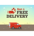 fast shipping concept Truck van vector image