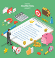flat isometric concept of digital marketing vector image vector image