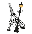 french montage vector image vector image