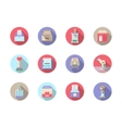 Fundraiser flat color icons set vector image vector image