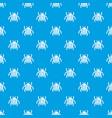garden beetle bug pattern seamless blue vector image