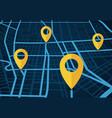gps navigation service concept 3d map vector image vector image