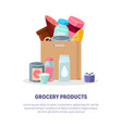 grocery products banner landing page template vector image
