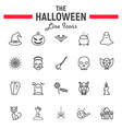 halloween line icon set scary symbols collection vector image vector image