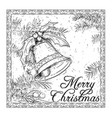 hand drawing christmas bell card design vector image vector image