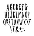 hand written grunge font vector image vector image