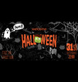 happy halloween invitation card with spiderweb and vector image vector image
