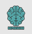 icon crying character brain vector image