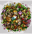 india hand drawn cartoon doodles vector image