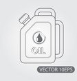 jerrycan oil icon black and white outline drawing vector image vector image
