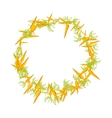juicy round frame of carrot vector image