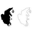 khanh hoa province map vector image vector image