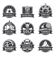 large set logos for sports vector image