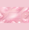 light pink abstract liquid background for posters vector image
