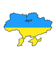 map ukraine flag color icon vector image