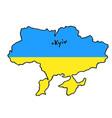 Map ukraine flag color icon