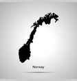 norway country map simple black silhouette on vector image