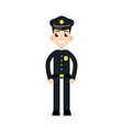 police oficer icon vector image vector image