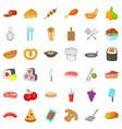 pretzel icons set cartoon style vector image vector image
