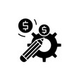 profitable solution black icon sign on vector image