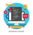 program coding concepts vector image vector image