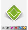 realistic design element gem vector image