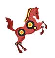 Sci-fi horse vector image