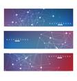 Scientific set of modern banners dna