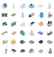 screen icons set isometric style vector image vector image