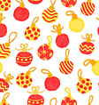 seamless cute watercolor pattern with Christmas vector image vector image