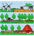Set of farming concept design elements in