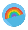 Single flat lgbt rainbow icon icon with long vector image