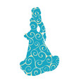 snow maiden pattern silhouette new year vector image vector image