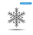 snowflake icon black color eps vector image vector image