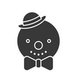 snowman icon in silhouette design for use as vector image