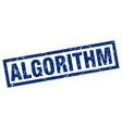 square grunge blue algorithm stamp vector image vector image